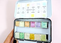 Celestial watercolor pan set Prima Marketing swatches