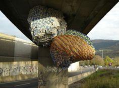 Travail sur la greffe Art Plastique, Urban Art, Architecture, Brick, Street Art, Sculptures, Construction, Ceiling Lights, Journal