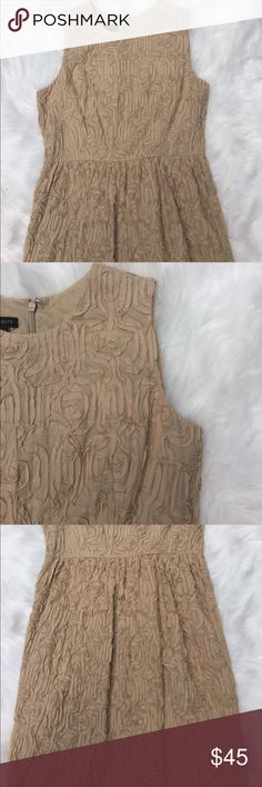 Talbots Dress Size 6 NWOT ▪️Talbots ▪️Versatile and chic dress. Can be worn for brunch, garden party, wedding reception or under a suit for the office.  NWOT classic Tan  ▪️Measurements: laying flat Length approx. 38 inches, Armpit to armpit approx. 17 inches  ▪️Size 6 ▪️Bundle and save!   Please see all pics, read description and ask questions before purchasing.  Same day shipping during weekdays. Happy Poshing! Talbots Dresses