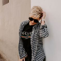 another one. Just so the haters can take a closer look 😉😘 📸 💇🏼♀️ Super Short Pixie, Long Pixie, Pixie Haircut For Thick Hair, Short Hair Cuts, Pixie Cuts, Short Haircut Styles, Shot Hair Styles, Cute Cuts, Kinds Of Clothes