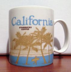 CALIFORNIA Starbucks City Mug Collector Series Global Icon Coffee/Tea 16oz 2009 #STARBUCKSCOFFEE