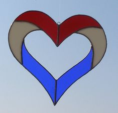 Stained Glass Heart Star  Patriotic by GeesVarietyShop on Etsy, $20.00