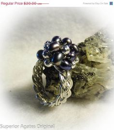 On Sale Silver Pearl Wire Woven Beaded Cocktail by superioragates, $18.00