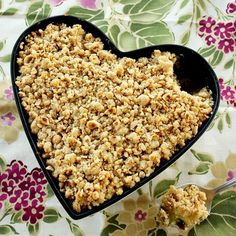 This heart-warming Vegan Apple Crumble is perfect to satisfy your sweet tooth. Make a cake-sized version or small individual pots.