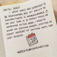 Day 16: Goals. 😝 • • • • • #bujojunkies #bujocommunity #bulletjournal #bujo #leuchtturm1917 #leuchtturm #bulletjournaljunkies #bulletjournalcollection #bulletjournalideas #bujoinspire #bulletjournalcommunity  #plannergirl #plannercommunity #showmeyourplanner  #RockYourHandwriting