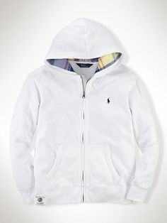 Cotton Full-Zip Hoodie - Sweatshirts   Boys 2–7 - RalphLauren.com