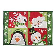 Christmas Tapestry Rugs at Big Lots.