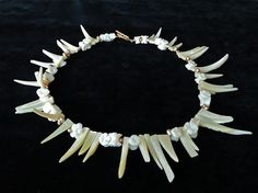 Granny's Lace  choker with mother of pearl by BlushingMermaid, €85.00