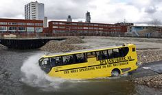Duck Tour of many iconic locations all around the world. Amphibious vehicles take passengers on tours of top locations, from both the land and the water.