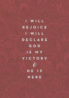 Rejoice!!