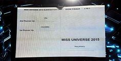 Official Miss Universe card shows Miss Philippines as real winner #RagnarokConnection