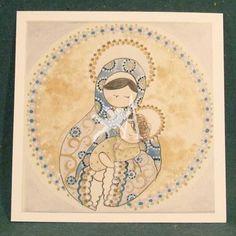 [c] Estampa Virgen con Niño