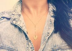 Lariat Necklace / Personalized Lariat Y Necklace by TatianaKatzoff, $26.00