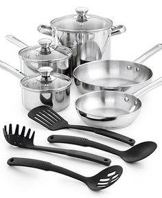 Tools of the Trade Stainless Steel 12-Pc. Cookware Set, Only at Macy's - Cookware - Kitchen - Macy's