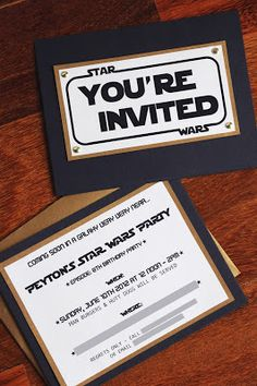 DIY Star wars party invites