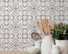 Stencil Patterns, Stencil Designs, Tile Patterns, Stencil Painting, Tile Stencils, Stenciled Floor, Floor Stencil, Penny Tile, Hexagon Tiles
