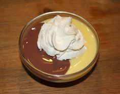 dit was een feestje chocolade en vanille met een toefje slagroom of Klop klop