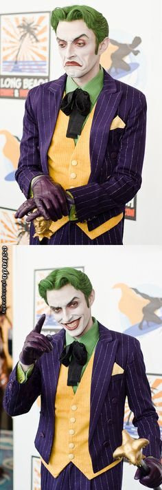 Character: Joker / From: DC Comics Batman / Cosplay Model: Anthony Misiano Batman Cosplay, Dc Cosplay, Cosplay Anime, Best Cosplay, Cosplay Makeup, Anthony Misiano, Deadshot, Dc Comics, Nananana Batman