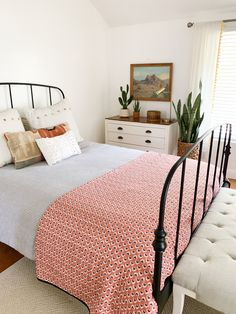 At Home with Brooke White in Thousand Oaks, California – A Beautiful Mess What is Decoration? Decoration may be the … Home Bedroom, Bedroom Decor, Bedrooms, Bedroom Ideas, Living Room Into Bedroom, Design Bedroom, Master Bedroom, White Home Decor, My New Room