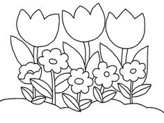 Free printable plants and flowers coloring book for kids