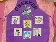 Classroom Job - Door Greeter- they choose how they would like to be greeted in the morning.