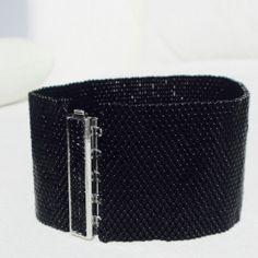 """Bracelet """"Noir"""" Hand-Woven"""