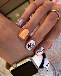 You see, the nails designed in this way are really fashionable - Page 92 of 143 - Inspiration Diary Dream Nails, Love Nails, Pink Nails, Pretty Nails, Red Nail, Pastel Nails, Shellac Nails Fall, Nail Manicure, Acrylic Nails