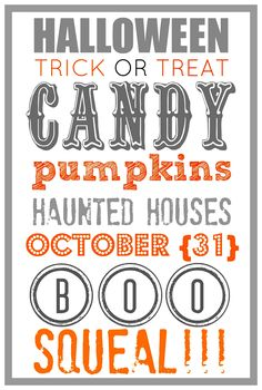 I spent sometime over the labor Day Holiday playing around with some fun fonts for a Halloween Printable. I kept the printable the same, but changed the colors and design to give it a different look. So here are 6 Free Halloween Printable's with 6 different Designs.  All you have to do is right …