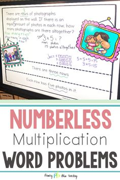 These numberless math word problems will help your and grade students accurately solve all types of single-digit word problems. They come in a paperless, digital version and a printable version. Teachers LOVE them! Get your set today! First Grade Lessons, First Grade Activities, Teaching First Grade, First Grade Math, Teaching Math, Math Lessons, Maths, Word Problems 3rd Grade, 3rd Grade Words