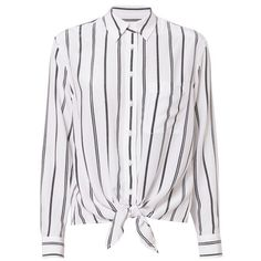 Equipment Women's Long Sleeve Daddy Tie Front Blouse (3.180 ARS) ❤ liked on Polyvore featuring tops, blouses, shirts, blusas, stripe, long-sleeve shirt, long sleeve collar shirt, white long sleeve shirt, vertical stripe shirt and long sleeve shirts