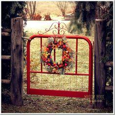 Red garden gate....gate from Salem?