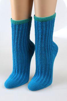 Socken - Handgestrickte Socken Gr. 38/39  - ein Designerstück von neuehobbytheke bei DaWanda