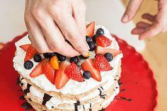 Cheesecake, Strawberry, Birthday Cake, Food, Cheesecakes, Birthday Cakes, Essen, Strawberry Fruit, Meals