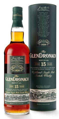 Glendronach Revival 15 jaar oud. Gerijpt in oloroso sherry vaten