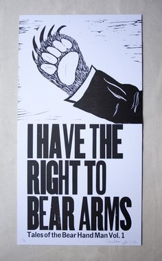 $20 right to bear arms / arm bears.