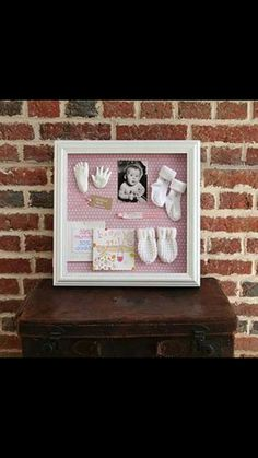 New born baby shadow box.