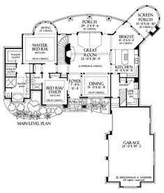 Hillside Walkout Archives   Walkout Basement  House plans and Home    The Hollowcrest House Plans First Floor Plan   House Plans by Designs Direct