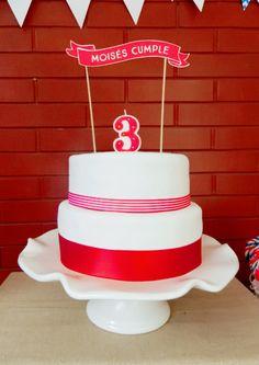 Torta - Fiesta de Garaje vintage. Cake - Birthday party vintage garage