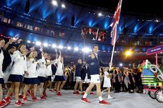 Andy Murray leading Team GB at Rio 2016 Opening Ceremony