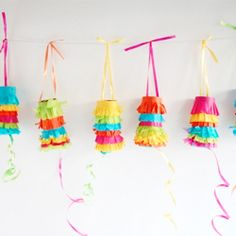 Perfect for Cinco de Mayo or any festive celebration, this pinata garland is both a decoration and a fun activity for guests!