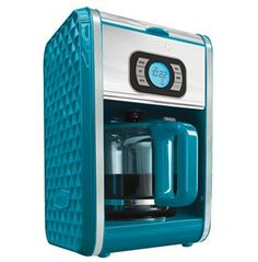 Bella Diamond Collection 12 Cup Programmable Coffeemaker Turquoise ** Check this awesome product by going to the link at the image. (This is an affiliate link) Coffee Maker Reviews, Best Coffee Maker, Drip Coffee Maker, Kitchen Gadgets, Kitchen Appliances, Vintage Appliances, Expensive Coffee, Coffee Maker Machine, Turquoise Kitchen