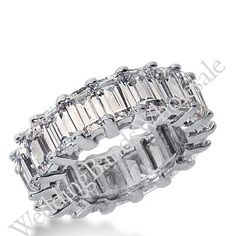950 Platinum Diamond Eternity Wedding Bands, Common Prong Setting 9.50 ct. DEB204PLT – Size 10 | GlobalFeri.com Fine and Fashion Jewelry