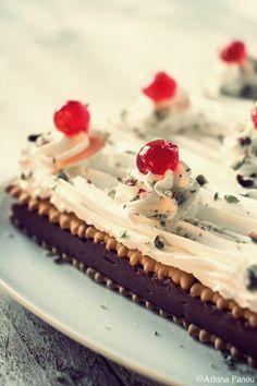 Ρετρό γλυκό ψυγείου με μπισκότα και κρέμα!