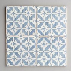 Estoril - handpainted, handmade patterned grey and white tiles. Portuguese tiles for bathrooms and kitchens from Everett and Blue Blue Kitchen Tiles, Blue Tiles, White Tiles, Kitchen Backsplash, Backsplash Ideas, Patterned Kitchen Tiles, Kitchen Prints, Kitchen Flooring, Architecture Design