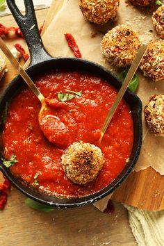 Sun-dried Tomato & Basil Arancini | Minimalist Baker Recipes