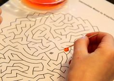Water Drop Mazes (unique practical life activity) from Busy Kids = Happy Mom