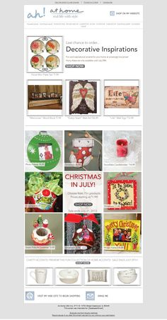 At Home USA Inc - Subject line: Last chance to save on Decorative Inspirations, Chatty Accents & Christmas in July favorites!