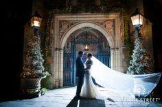 twilight bride and groom formal
