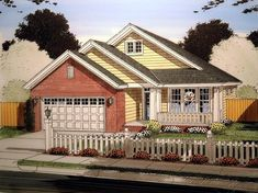 Elevation of Traditional   House Plan 61413