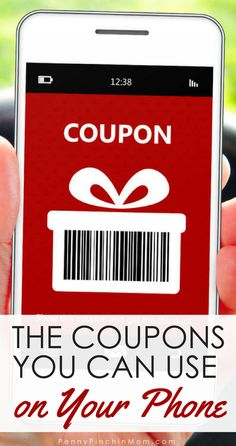 Money Saving Tip: Use coupons on your phone to save more money at the grocery store.